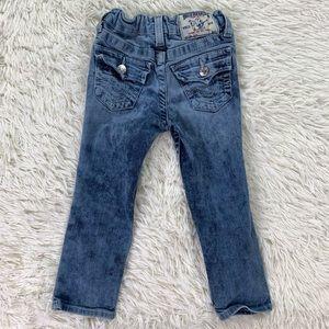 Girls True Religion Slim Straight Jeans Size 4
